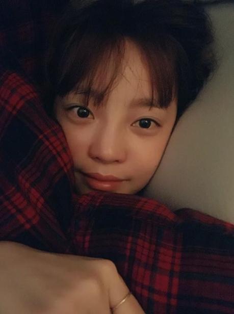 잘자요 굿나잇…구하라, 한층 더 어려진 러블리 근황[★SHOT!]