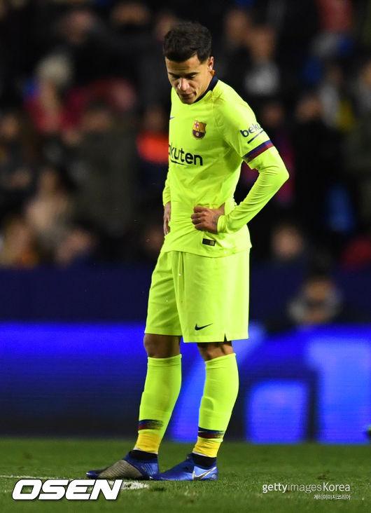 로테이션 가동한 바르셀로나, 레반테에 국왕컵 1차전 1-2 패
