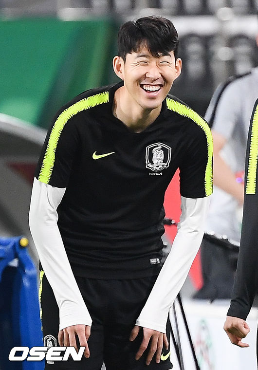 [사진]손흥민,천진난만한 미소