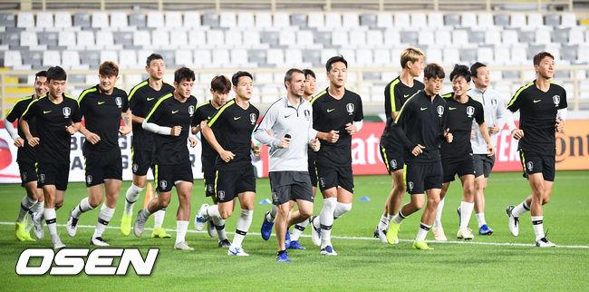 [사진]중국전 최종전 준비하는 축구대표팀