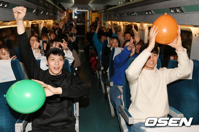 [사진]김선형-박지훈, 올스타와 함께하는 즐거운 기차 여행