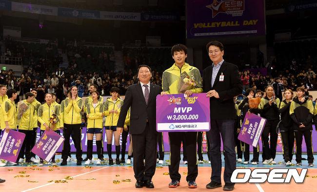 [사진]서재덕, 올스타전 MVP 영광