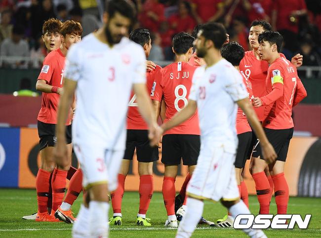 [사진]축구대표팀,아시안컵 8강이 보인다