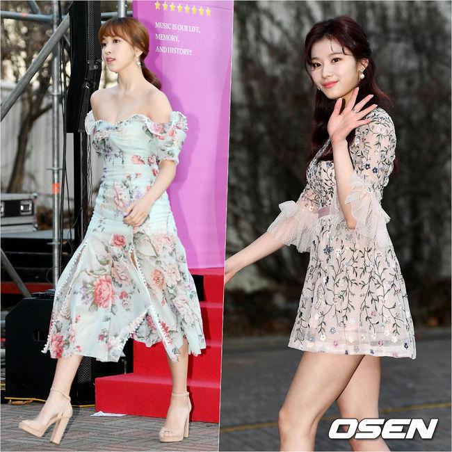 [사진]트와이스 미나-사나, 오늘도 눈부신 두 소녀