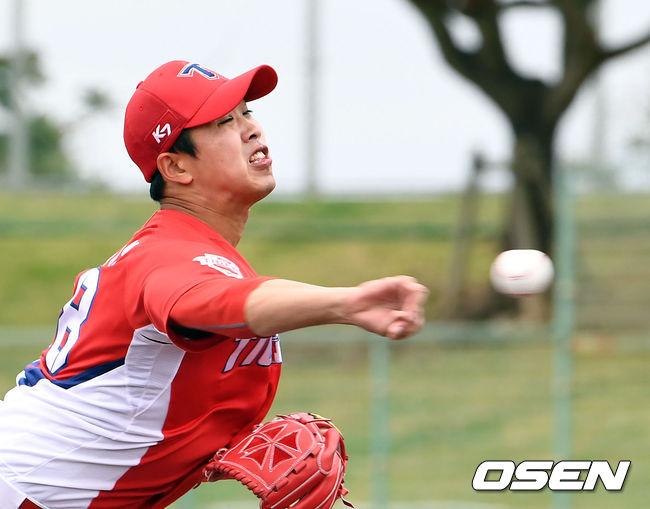 [사진]연습경기서 호되게 당한 임기영