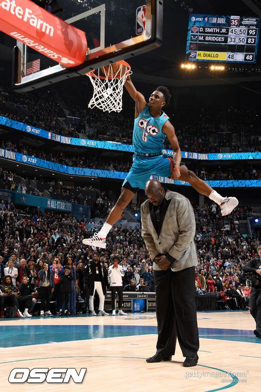 '샤크 넘어 허니딥' 디알로, NBA 덩크왕 등극