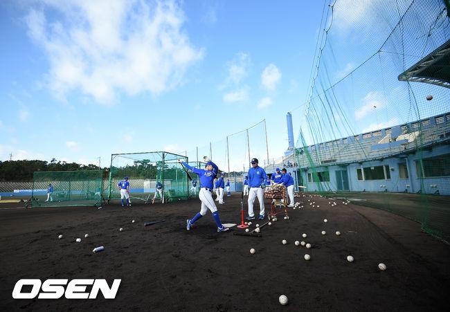[사진]삼성,니혼햄과의 연습경기를 앞두고 타격 훈련