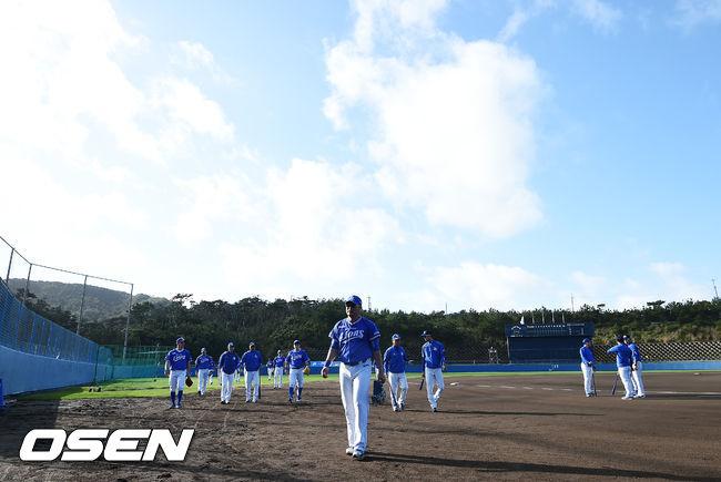 [사진]삼성,니혼햄과의 연습경기를 앞두고
