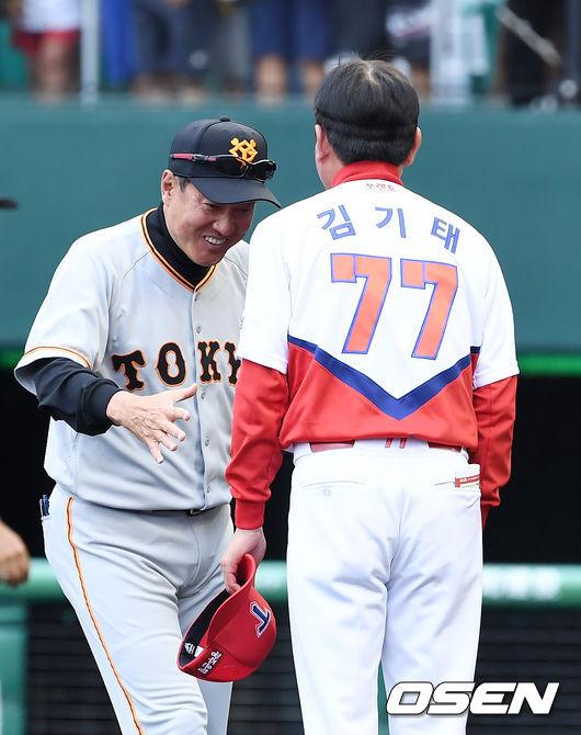 [사진]하라 감독,김기태 감독님! 멋진 경기였어요