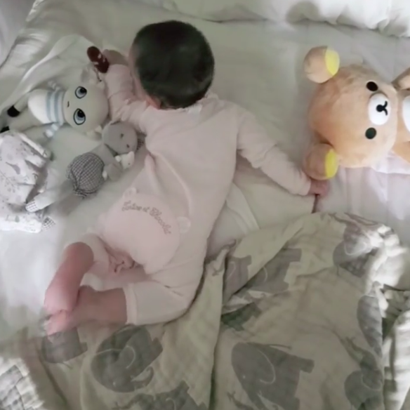 태어난지 210일째...차예련, ♥주상욱 주니어 딸 공개  [★SHOT!]