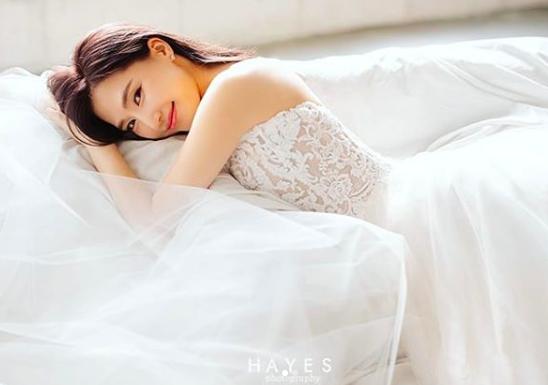 결혼 공현주, 웨딩 사진 공개...순백의 웨딩드레스 입은 여신美 [★SHOT!]