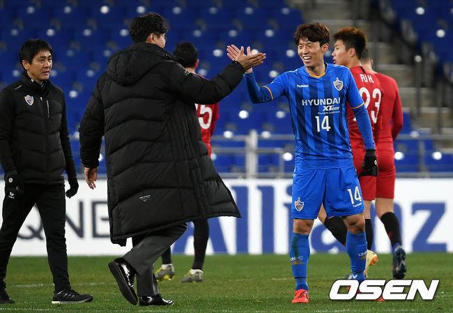 [사진]김도훈 감독-김보경, 기분 좋은 승리