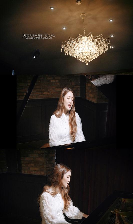 (여자)아이들 민니, 그래비티 커버 영상 공개... 몽환적인 보이스