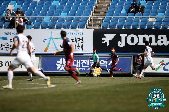 대전, 이랜드와 0-0...3G 연속 무패 행진