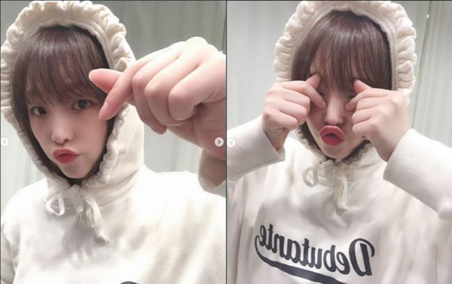 아이즈원 예나, 모자 쓴 귀요미..세상 깜찍 [★SHOT!]