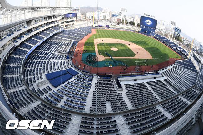 [사진]첫 경기 앞둔 창원NC파크