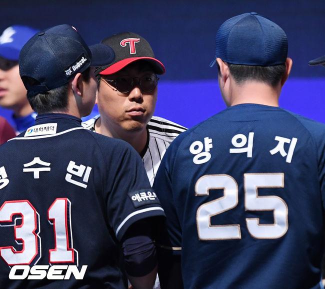 [사진]김현수-양의지,미디어데이를 마치고