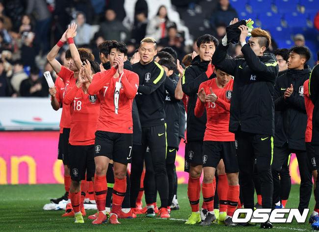 [사진]한국,극적인 골로 볼리비아전 승리 장식