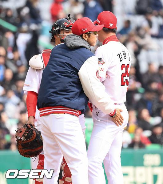 [사진]손혁 코치,광현이! 침착해