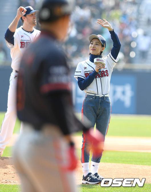 [사진]김서형, 쓰앵님의 야구장 나들이