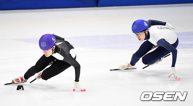 [사진]김지유-김아랑,경쟁