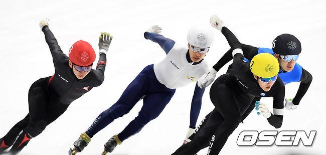 [사진]치열한 쇼트트랙 국가대표 선발전