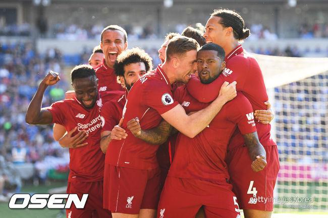 리버풀, 카디프에 2-0 완승... EPL 선두 복귀