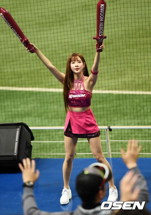 [사진]키움 김한나, 승리를 향한 응원