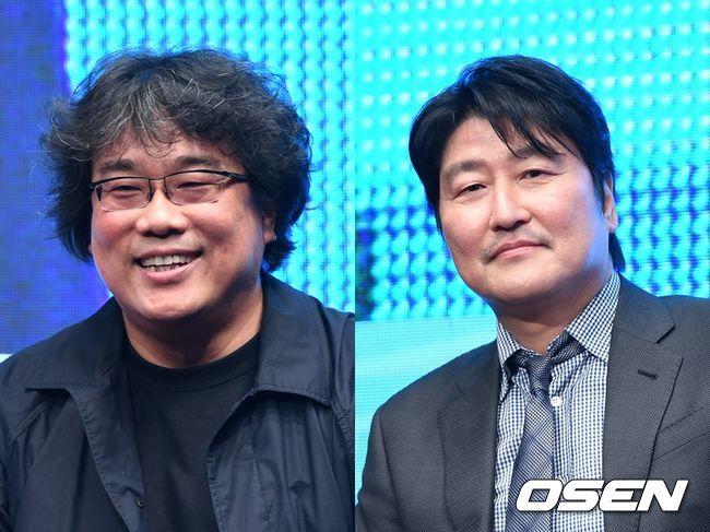 봉준호 감독(왼쪽)과 배우 송강호. OSEN DB