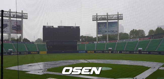 19일 잠실 NC-LG전, 우천 연기[현장 SNS]
