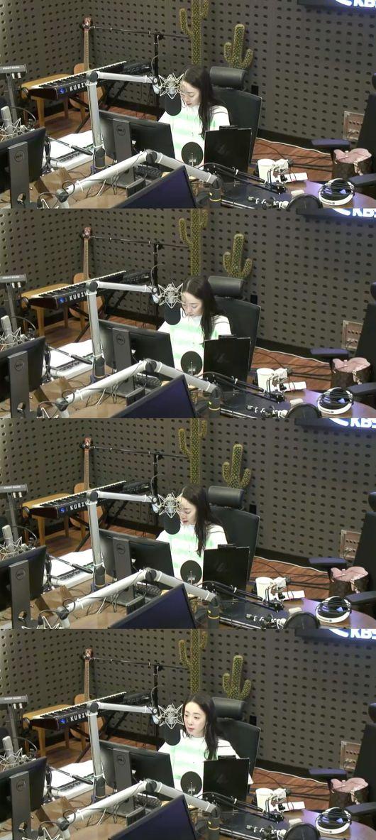 [사진=KBS 보는 라디오] '박은영이 FM대행진' DJ 박은영 아나운서 방송화면