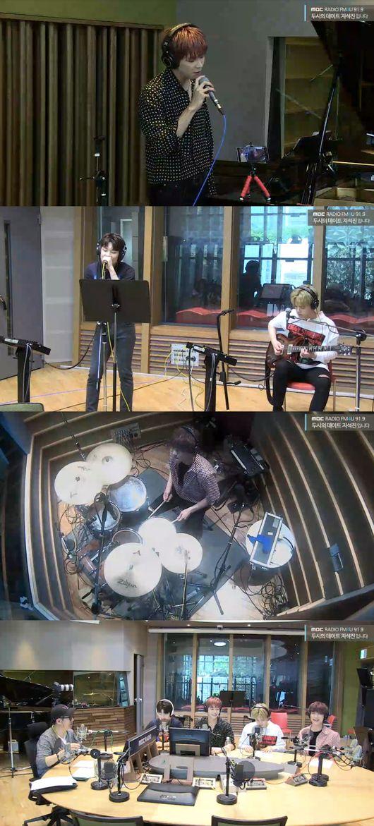 [사진=MBC 보는 라디오] '2시의 데이트 지석진입니다'에 출연한 밴드 엔플라잉