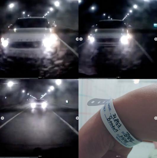 음주운전 화나..모세, 사고 블랙박스 영상보니 전속력 추돌+튕겨 밀렸다 [종합]