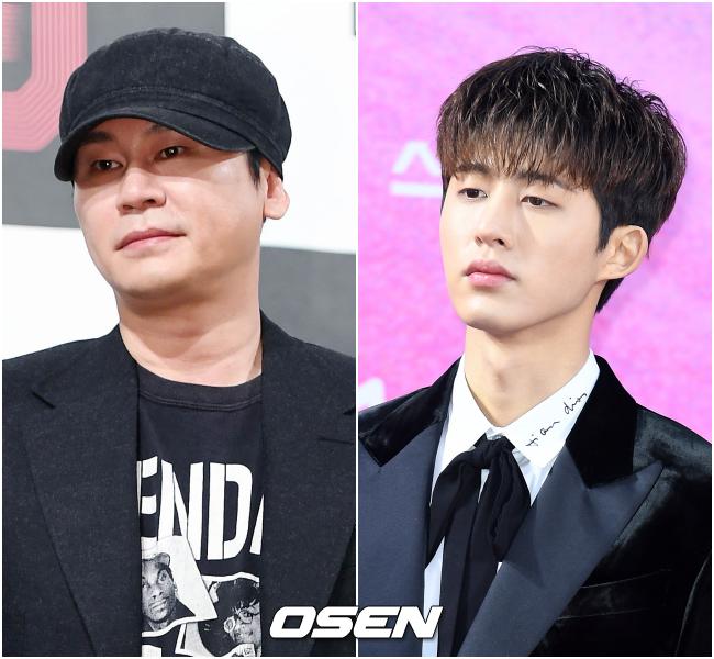 양현석 전 YG 대표 프로듀서(왼쪽)와 아이콘 전 멤버 비아이(오른쪽). OSEN DB.