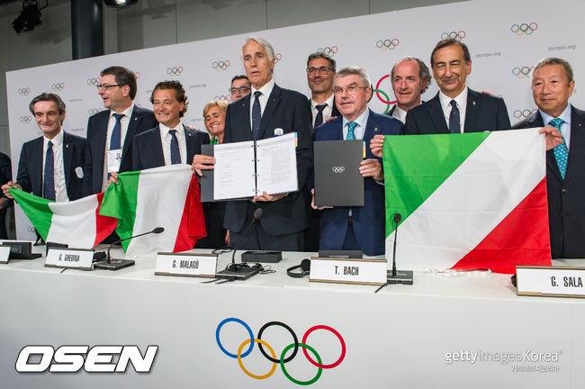 밀라노-코르티나 담페초, 2026년 동계올림픽 개최지 선정