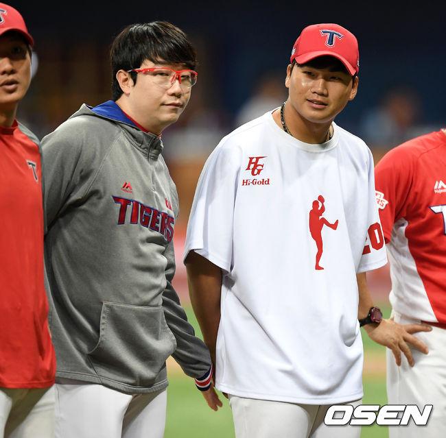 [사진]양현종,김기훈 정말 멋진 피칭이었어