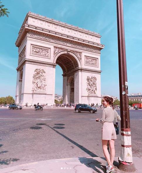 [사진=성유리 SNS] 핑클 출신 배우 성유리가 공개한 프랑스 파리 여행 근황