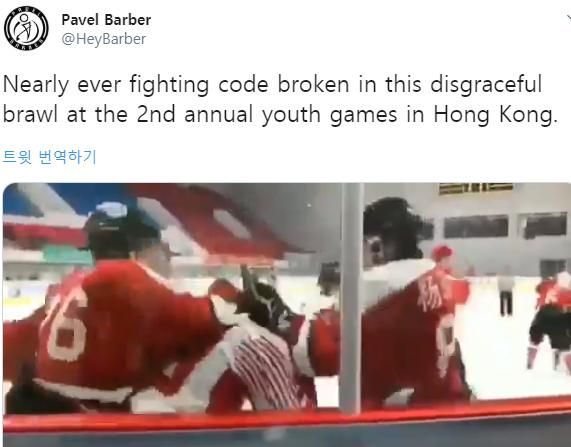 中 아이스하키 선수, 경기 중 홍콩 선수 집단 폭행... 처벌은 솜방망이
