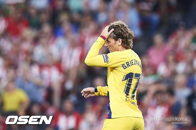 [사진] 바르셀로나 라리가 데뷔전을 가진 그리즈만 ⓒGettyimages(무단전재 및 재배포 금지)