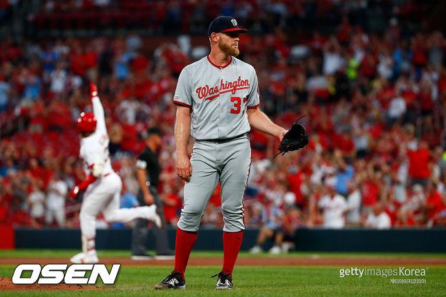 NL 다승 1위 스트라스버그, 볼넷+홈런 1회에 18승 불발