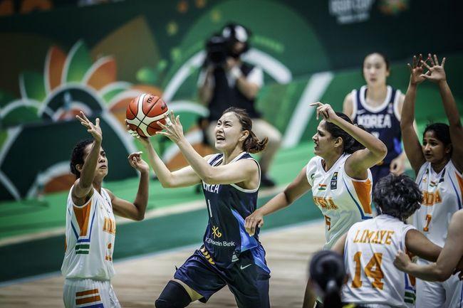 '7명이 두 자릿수 득점' 한국여자농구, 인도 꺾고 아시안컵 2연승