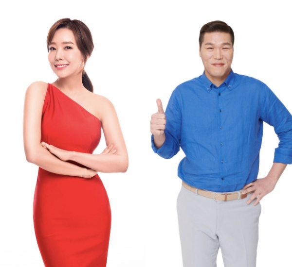 [사진=SBS플러스 제공] '똥강아지들'에 출연하는 배우 소유진(왼쪽)과 서장훈(오른쪽) MC 프로필 컷.