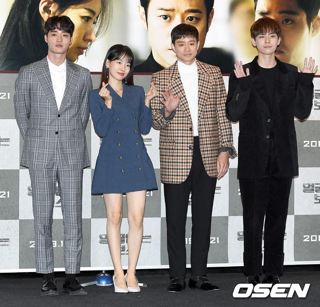 [OSEN=조은정 기자] 14일 오후 서울 용산구 CGV용산아이파크몰에서 영화 '얼굴없는 보스(감독 송창용)' 언론시사회가 진행됐다.