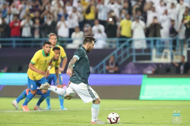 메시 복귀전 골맛 아르헨티나, 제수스 PK실축 브라질에 1-0 승리