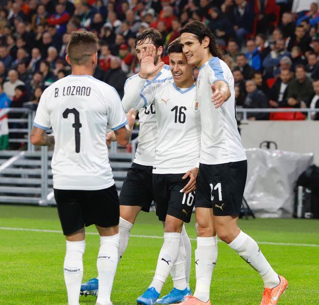 카바니 결승골 우루과이, 헝가리에 2-1 승리 5경기 무패