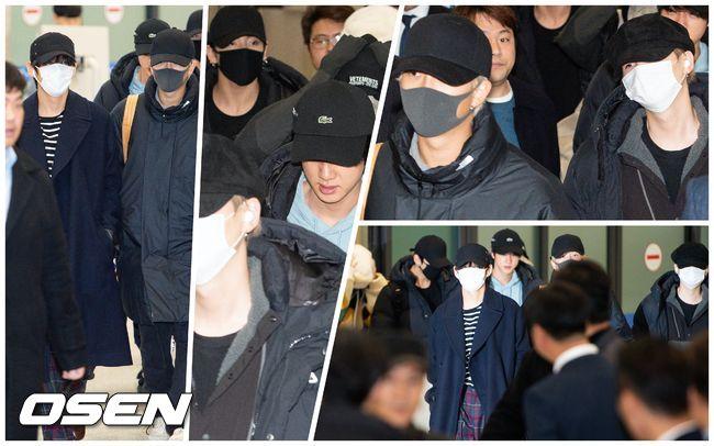 [오!쎈 짤]방탄소년단(BTS) 입국,'가려도 숨길수 없는 빛나는 매력'