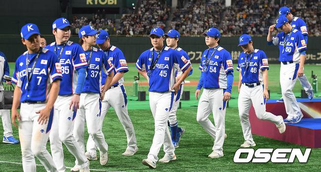 [사진]한국 야구대표팀, 프리미어12 준우승