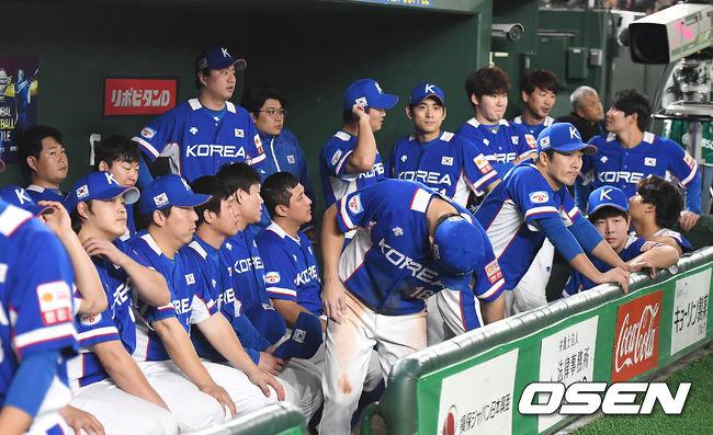 [사진]대회 2연패 실패한 야구대표팀,아쉬운 준우승