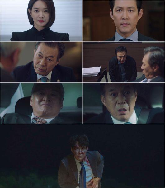 [사진=JTBC 방송화면] '보좌관3' 8회에서 이정재가 위기에 처했다.