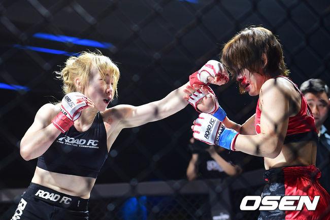 [사진]홍윤하,얼굴 가격하는 강펀치